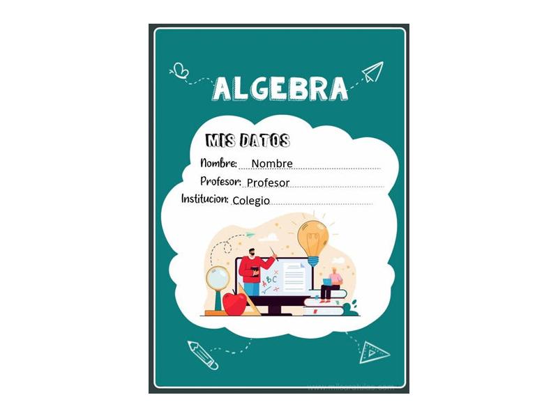Caratula y Portada de Algebra en Word 9