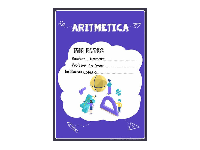 Caratula y Portada de Aritmética en Word 7