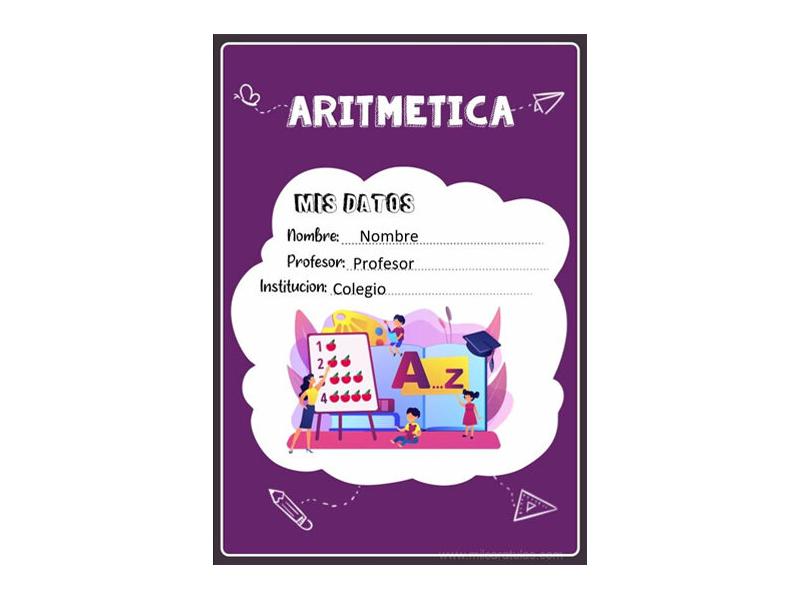 Caratula y Portada de Aritmética en Word 8