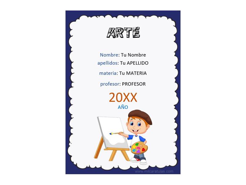 Caratula y Portada de Arte en Word 10