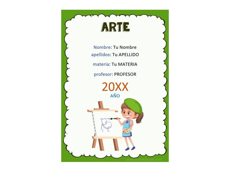 Caratula y Portada de Arte en Word 4