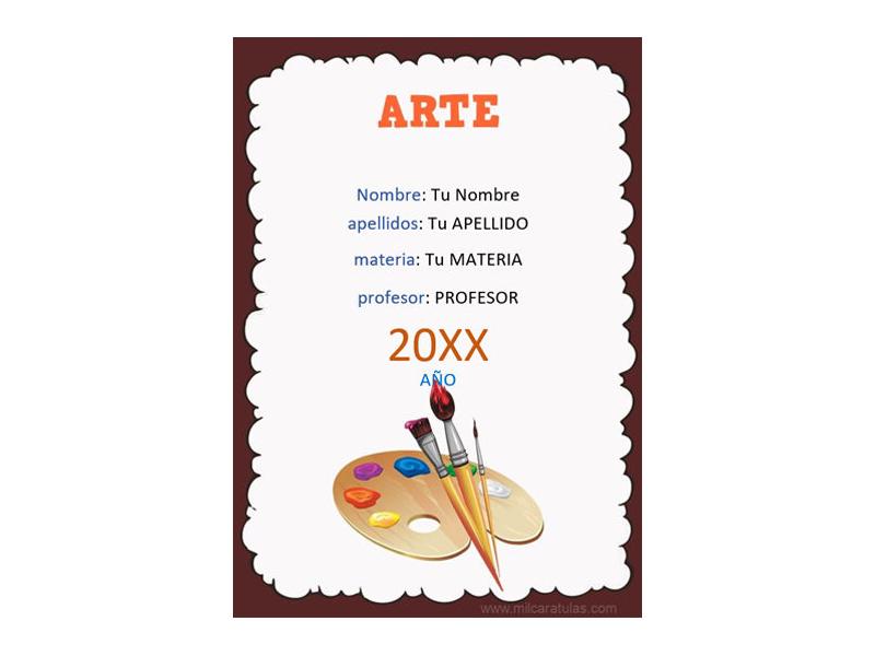 Caratula y Portada de Arte en Word 5