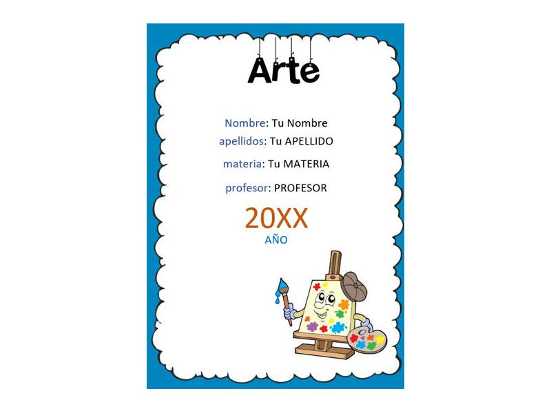 Caratula y Portada de Arte en Word 6