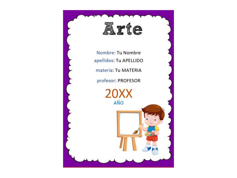 Caratula y Portada de Arte en Word 9