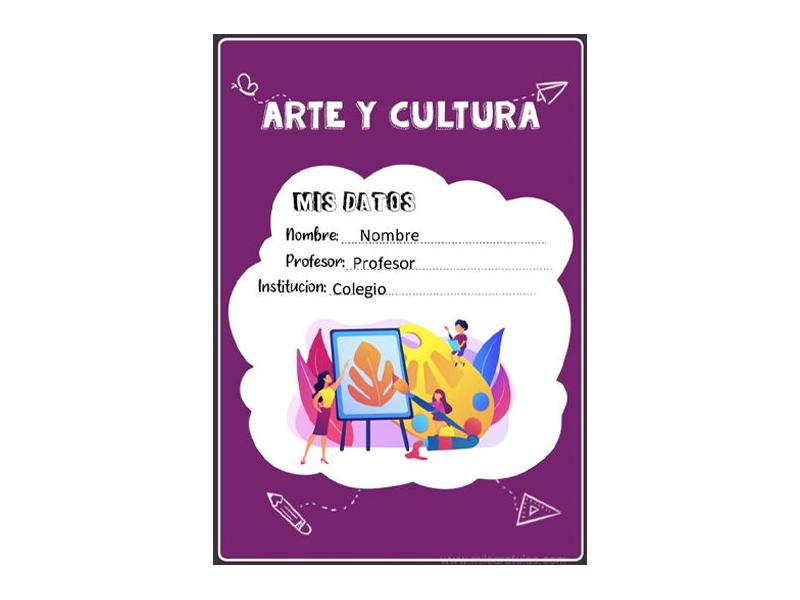 Caratula y Portada de Arte y Cultura en Word 10