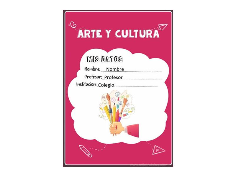 Caratula y Portada de Arte y Cultura en Word 11