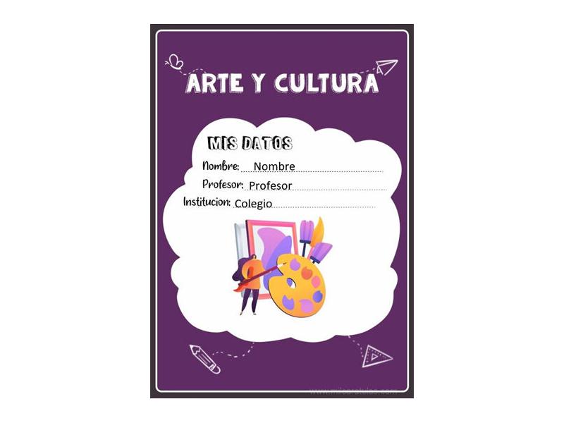 Caratula y Portada de Arte y Cultura en Word 9
