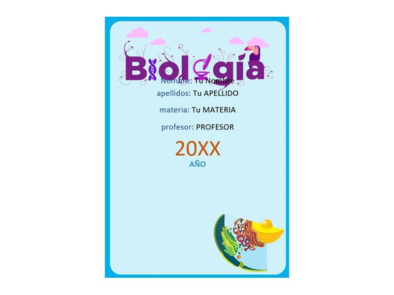 Caratula y Portada de Biología en Word 10
