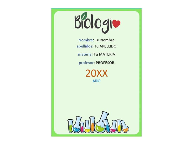 Caratula y Portada de Biología en Word 6