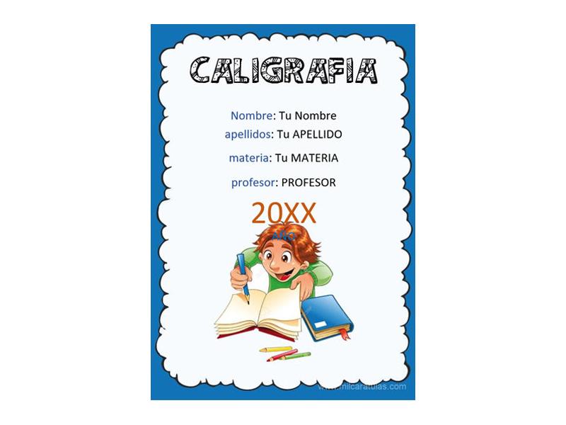 Caratula y Portada de Caligrafía en Word 2
