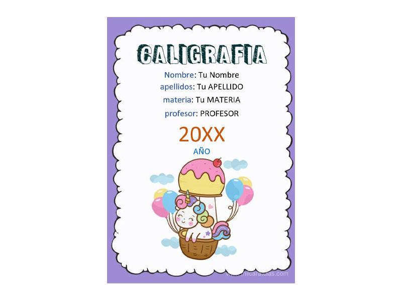 Caratula y Portada de Caligrafía en Word 3