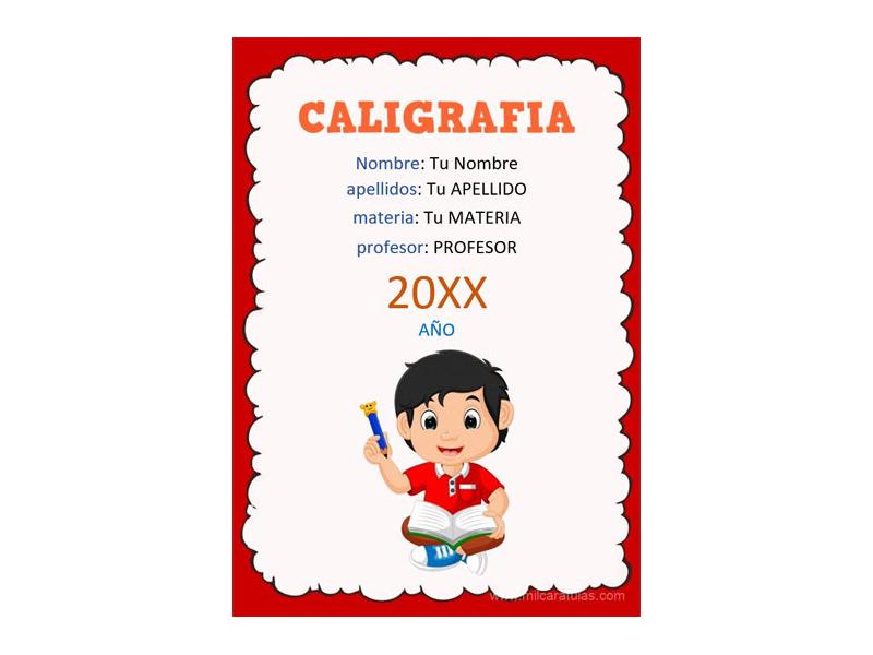 Caratula y Portada de Caligrafía en Word 4