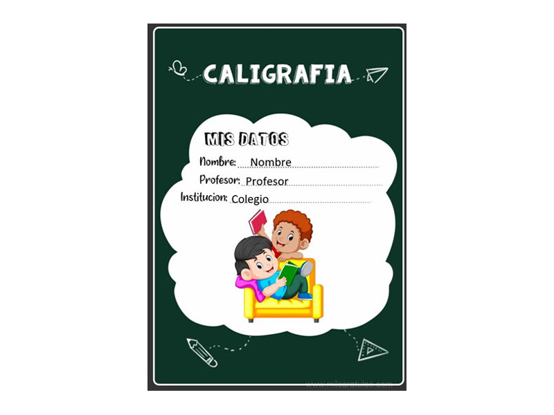 Caratula y Portada de Caligrafía en Word 7