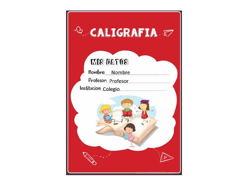 Caratula y Portada de Caligrafía en Word 8