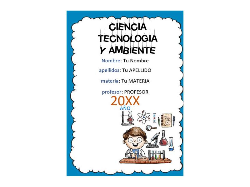Caratula y Portada de Ciencia Tecnología y Ambiente en Word 1