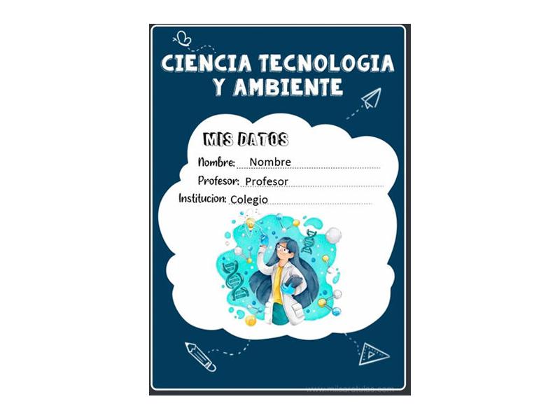 Caratula y Portada de Ciencia Tecnología y Ambiente en Word 11