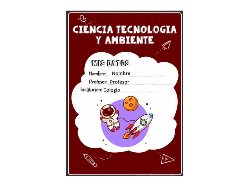 Caratula y Portada de Ciencia Tecnología y Ambiente en Word 12