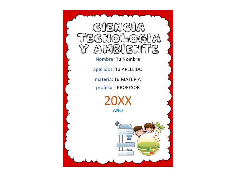 Caratula y Portada de Ciencia Tecnología y Ambiente en Word 8