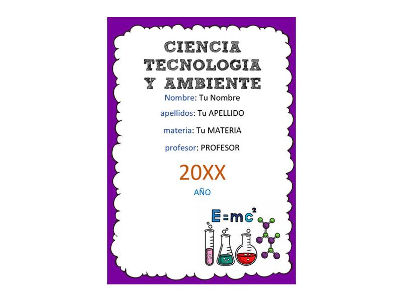 Caratula y Portada de Ciencia Tecnología y Ambiente en Word