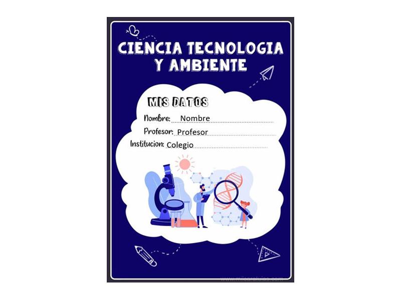 Caratula y Portada de Ciencia Tecnología y Ambiente en Word 9