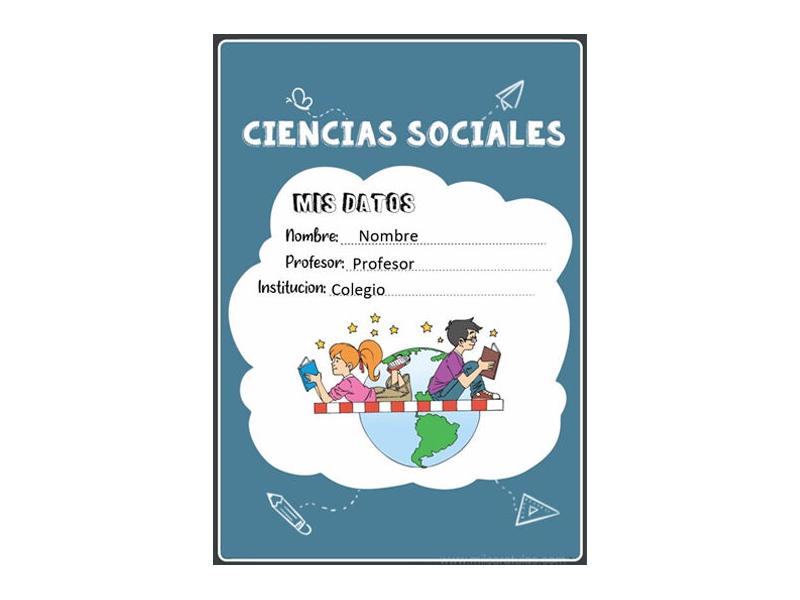 Caratula y Portada de Ciencias Sociales en Word 15