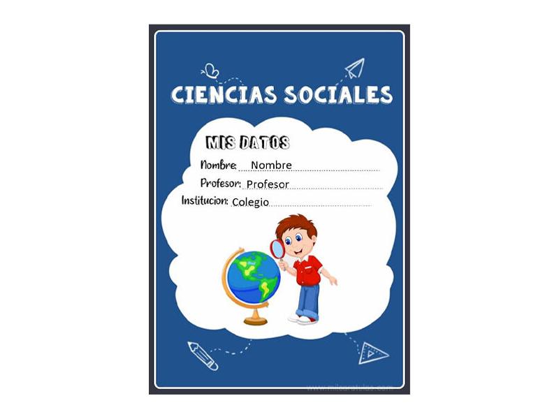 Caratula y Portada de Ciencias Sociales en Word 16