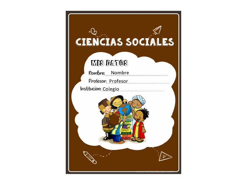 Caratula y Portada de Ciencias Sociales en Word 17