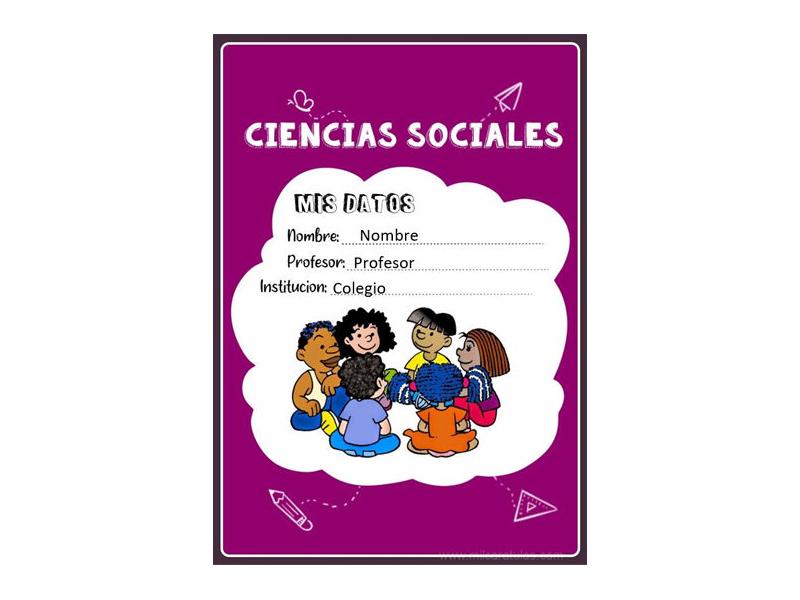 Caratula y Portada de Ciencias Sociales en Word 18