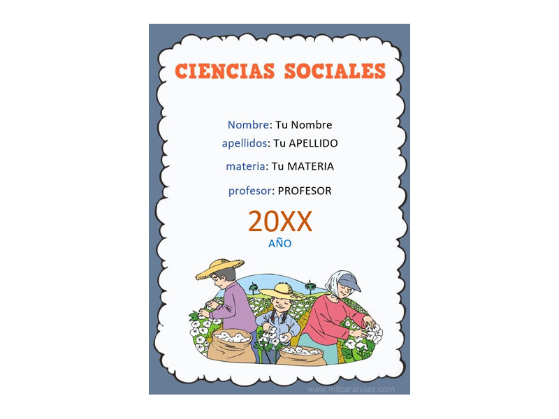 Caratula y Portada de Ciencias Sociales en Word 4