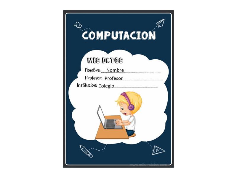 Caratula y Portada de Computación en Word 1