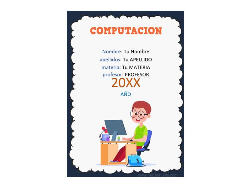 Caratula y Portada de Computación en Word 10