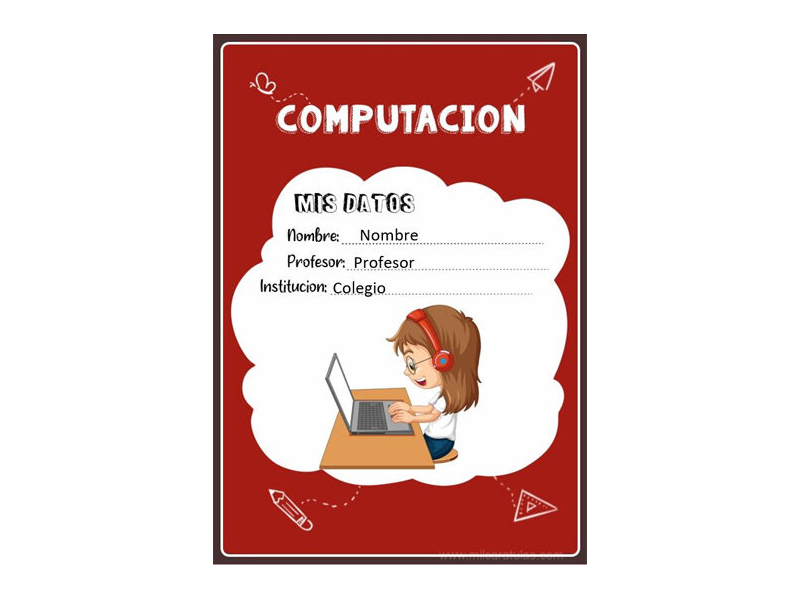 Caratula y Portada de Computación en Word 2