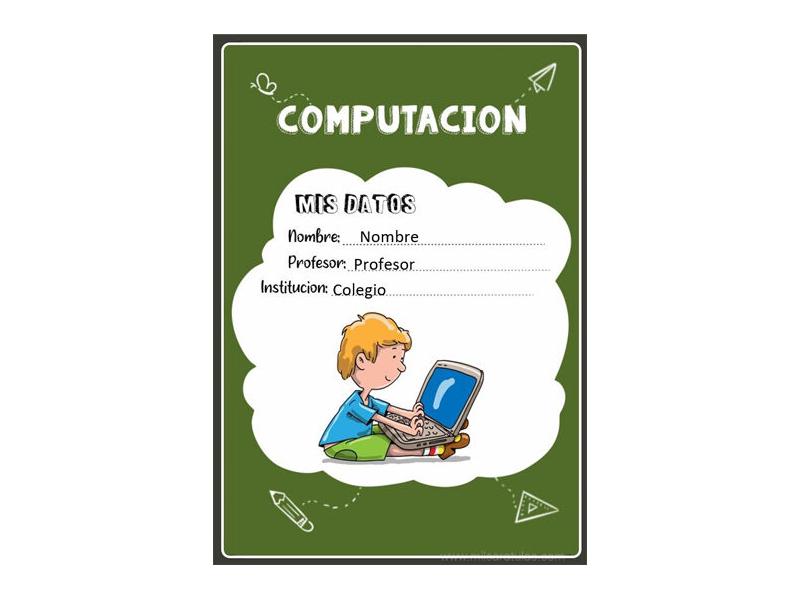 Caratula y Portada de Computación en Word 3