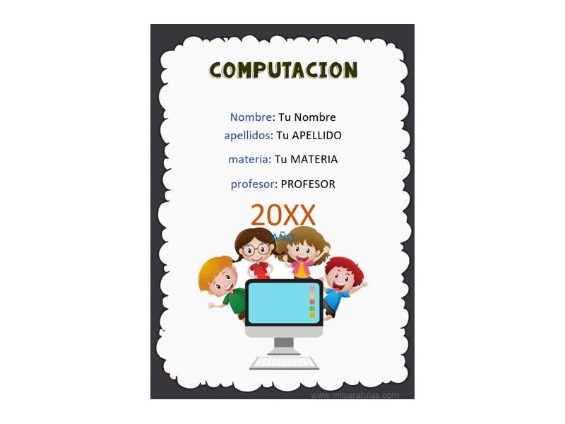 Caratula y Portada de Computación en Word 8