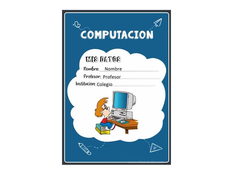 Caratula y Portada de Computación en Word