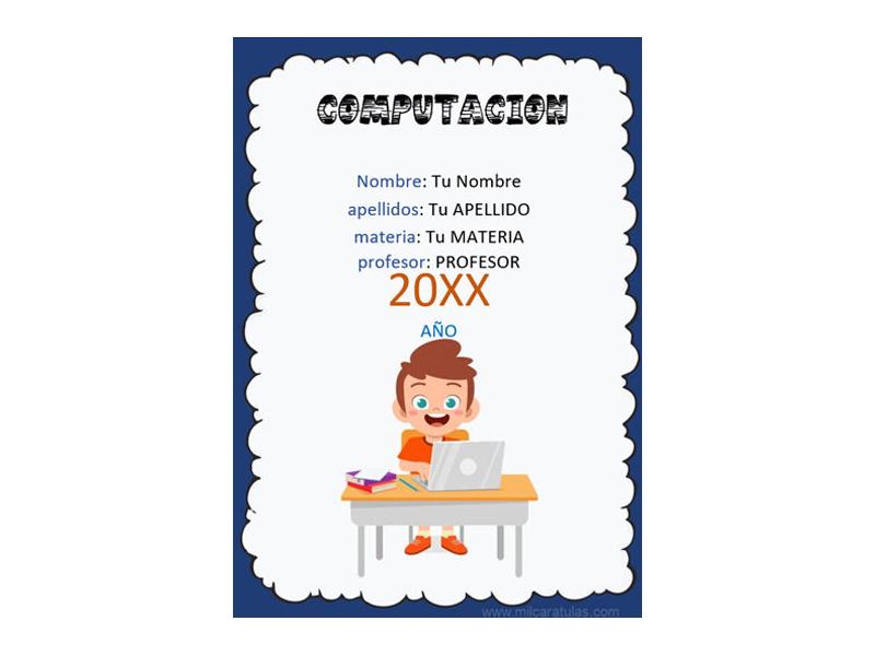 Caratula y Portada de Computación en Word 9