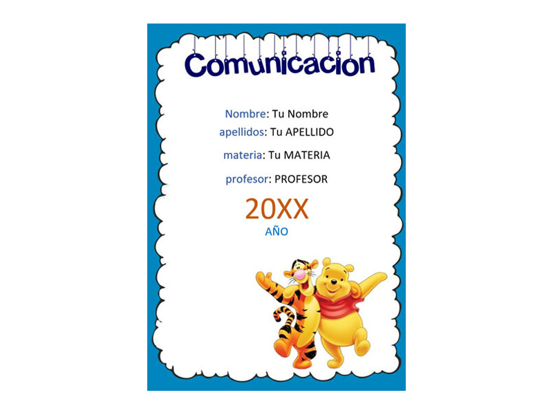 Caratula y Portada de Comunicación en Word 1