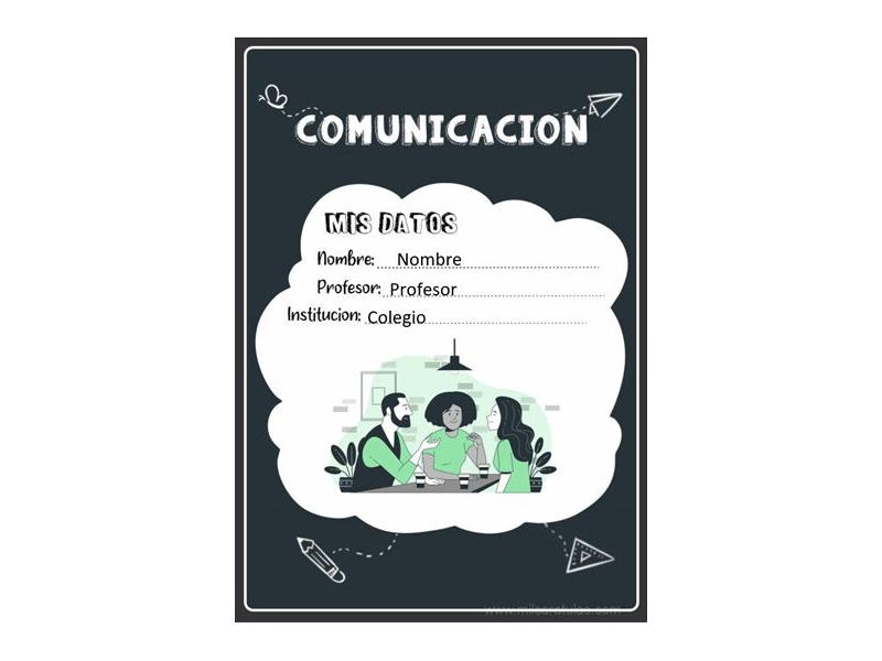 Caratula y Portada de Comunicación en Word 10