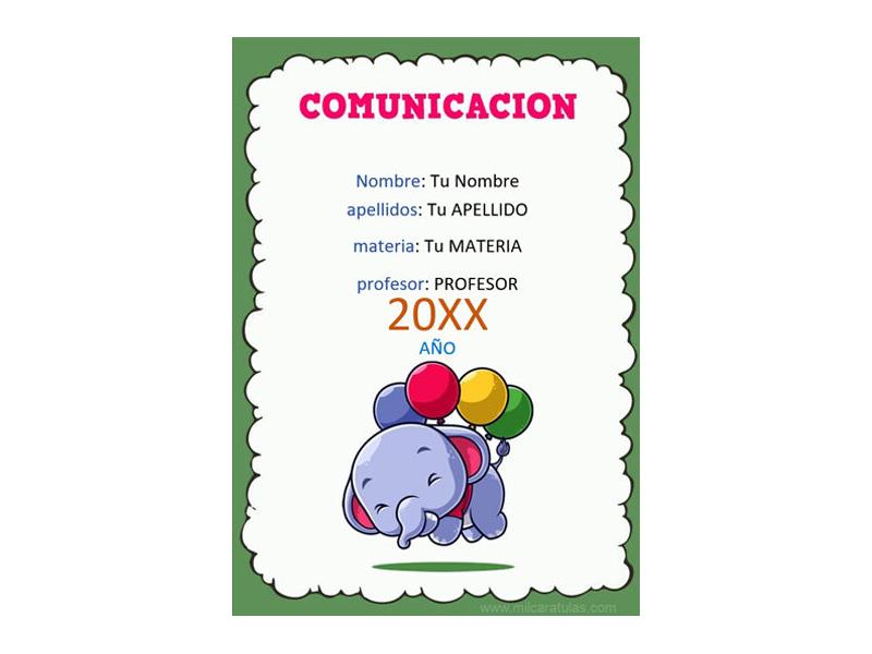 Caratula y Portada de Comunicación en Word 3