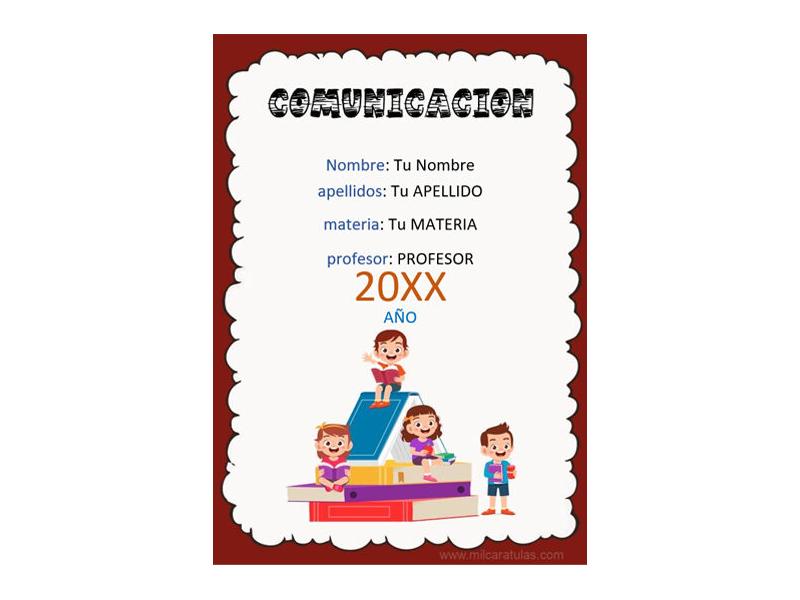 Caratula y Portada de Comunicación en Word 7