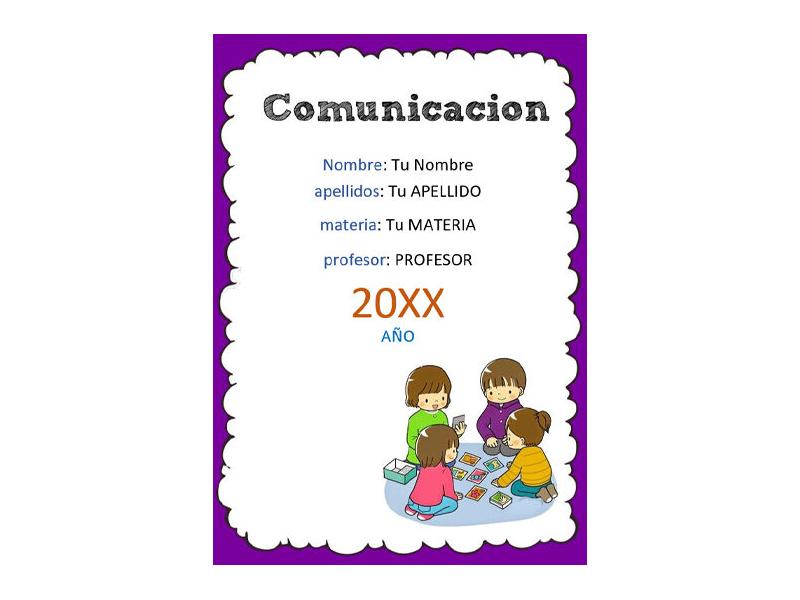 Caratula y Portada de Comunicación en Word