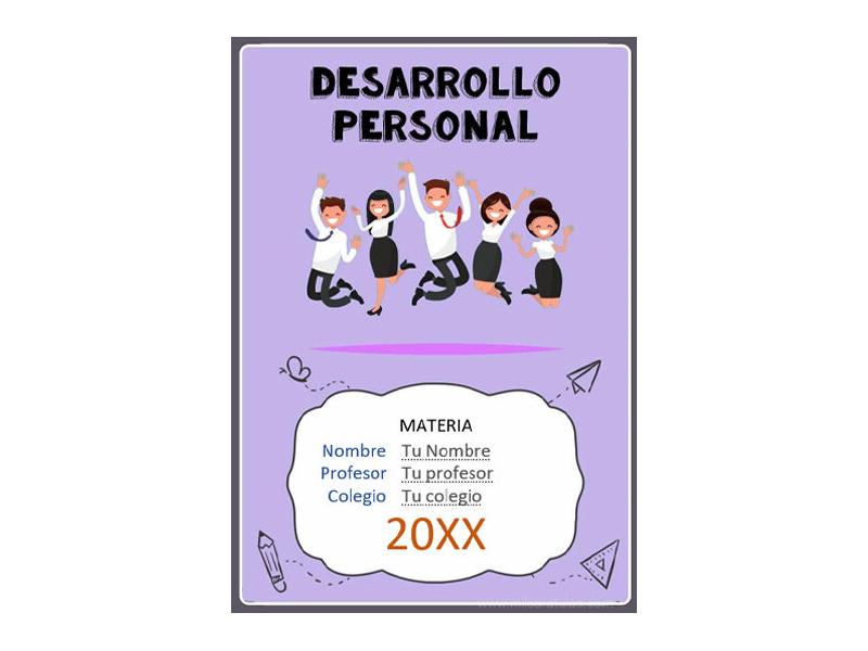 Caratula y Portada de Desarrollo Personal en Word 7