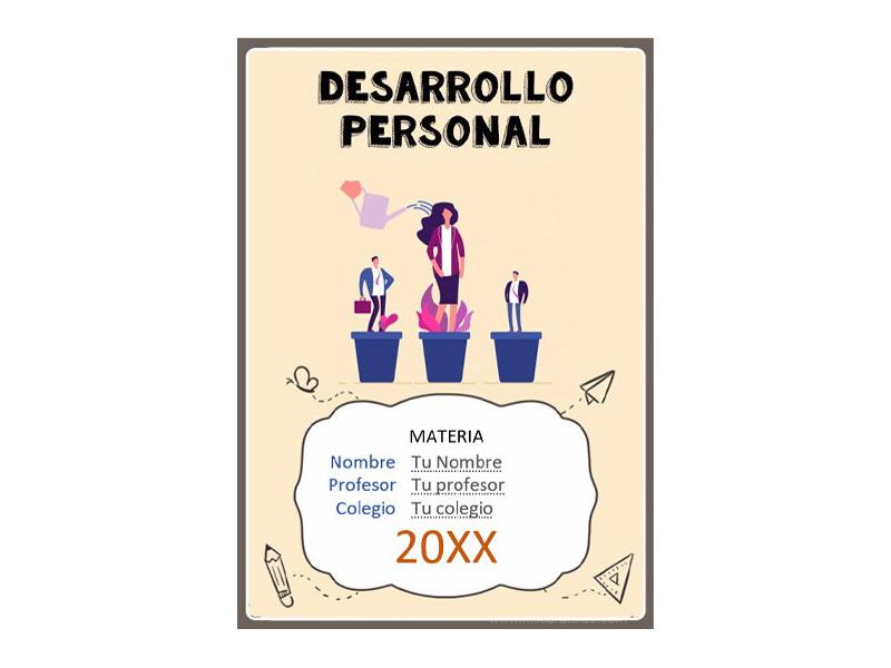 Caratula y Portada de Desarrollo Personal en Word 8