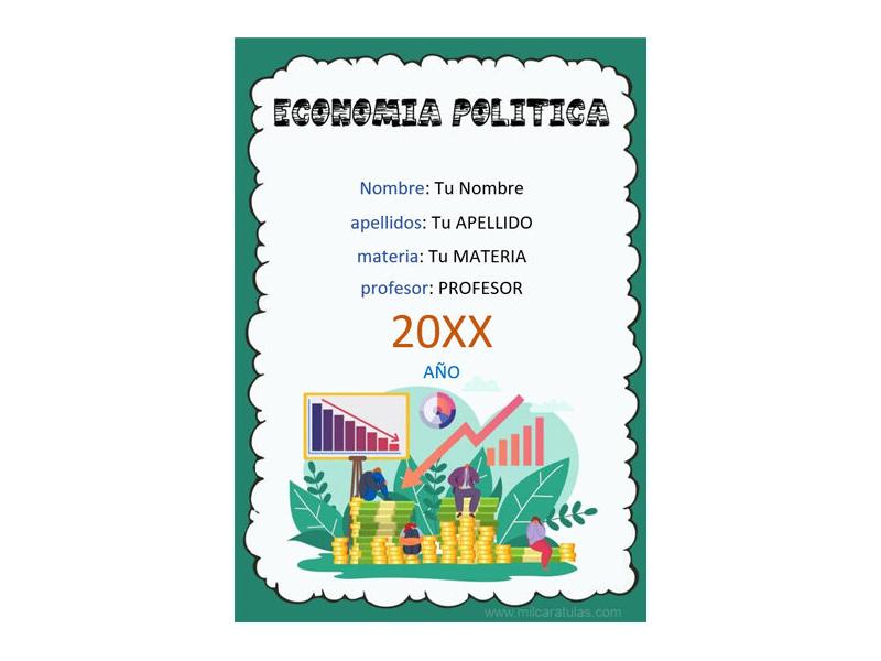 Caratula y Portada de Economía Política en Word 4