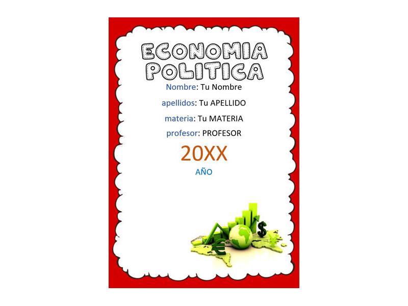 Caratula y Portada de Economía Política en Word 6