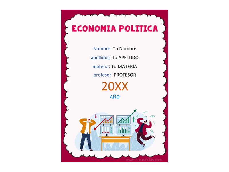 Caratula y Portada de Economía Política en Word 7