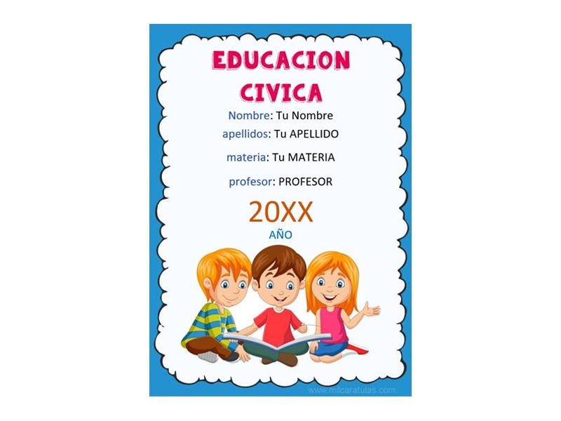 Caratula y Portada de Educación Cívica en Word 4