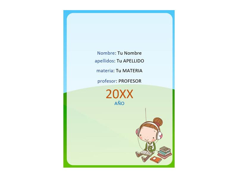Caratula y Portada de Educación Física en Word 11