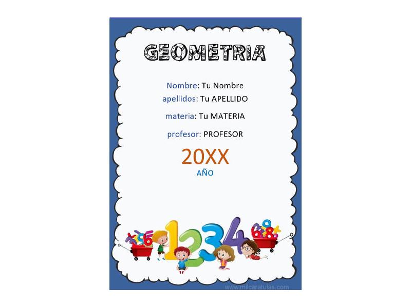 Caratula y Portada de Geometría en Word 1