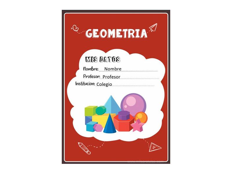 Caratula y Portada de Geometría en Word 10